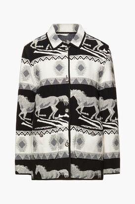 Maje Reversible Cotton-blend Jacquard Jacket