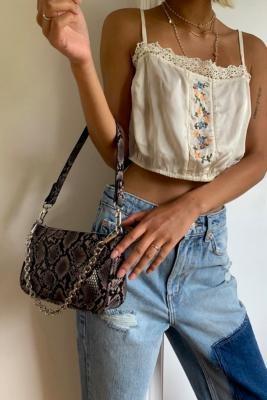 Urban Outfitters Snake Shoulder Bag - Beige ALL at