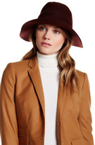 David & Young Knit Textured Faux Leather Band Panama Hat