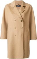 Salvatore Ferragamo double breasted cape coat
