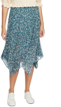 1 STATE 1.state Woodland Floral Midi Skirt
