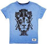 Molo Reilly Graphic Lion Jersey Tee, Blue, Size 4-12