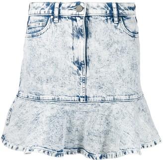MICHAEL Michael Kors Acid Wash Flounce Skirt