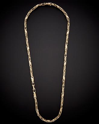Italian Gold 14K Fancy Bullet Link Necklace