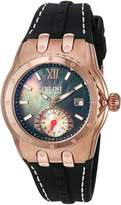 Elini Barokas Women's 'Genesis Vision' Swiss Quartz Stainless Steel and Silicone Automatic Watch, (Model: 20029-RG-01)
