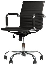 Wrought Studio Flara Conference Chair Upholstery Color: Black