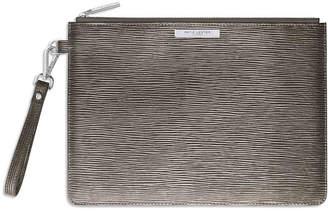 Katie Loxton - Zara Metallic Clutch Bag - Silver