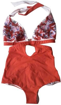 La Perla Red Lycra Swimwear for Women