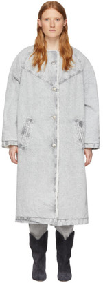 Isabel Marant Grey Kaleia Coat