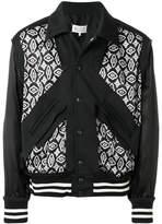 Maison Margiela contrast bomber jacket