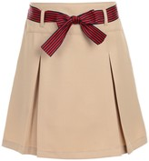 Nautica Pleated Uniform Skort & Striped Bow Belt (Girls Plus)