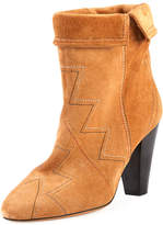 Isabel Marant Darilay Zigzag-Stitched Suede Boot