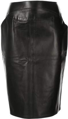 Chanel Pre-Owned 1999 leather pencil skirt