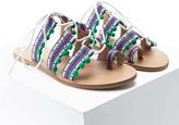 Forever 21 FOREVER 21+ Tribal Print Toe Ring Sandals