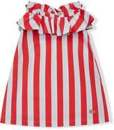 Fendi striped A-line dress