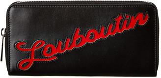 Christian Louboutin Panettone Logo Leather Zip-Around Wallet