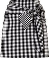Miss Selfridge Gingham Poplin Skirt