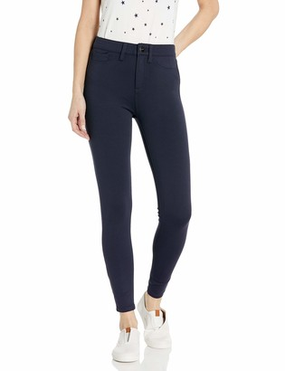 Daily Ritual Ponte Faux-5 Pocket Flat-front Legging Navy Medium