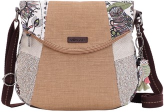 Sakroots Print Canvas Foldover Crossbody Bag