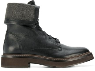 Brunello Cucinelli fold-over boots