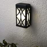 "575 Denim Alena 1-Light Outdoor Wall Lantern Charlton Home Bulb Included: No, Fixture Finish: Black, Size: 13"" H x 7"" W x D"