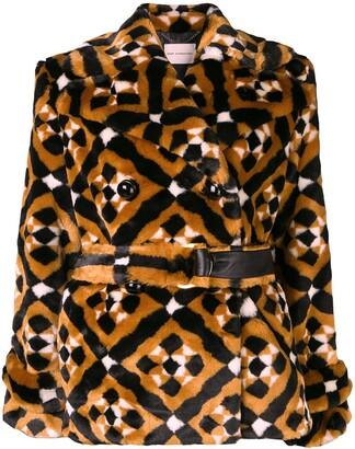 Mary Katrantzou Oates geometric pattern coat