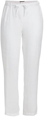 Marina Rinaldi, Plus Size Registro Linen Wide-Leg Pants