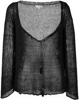 Etro tassel detail deep-V jumper - women - Silk - 44