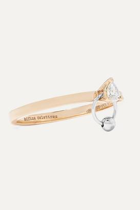 Delfina Delettrez 18-karat Yellow And White Gold Diamond Ring