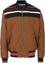 McQ by Alexander McQueen stripe panel bomber jacket