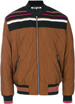 McQ stripe panel bomber jacket