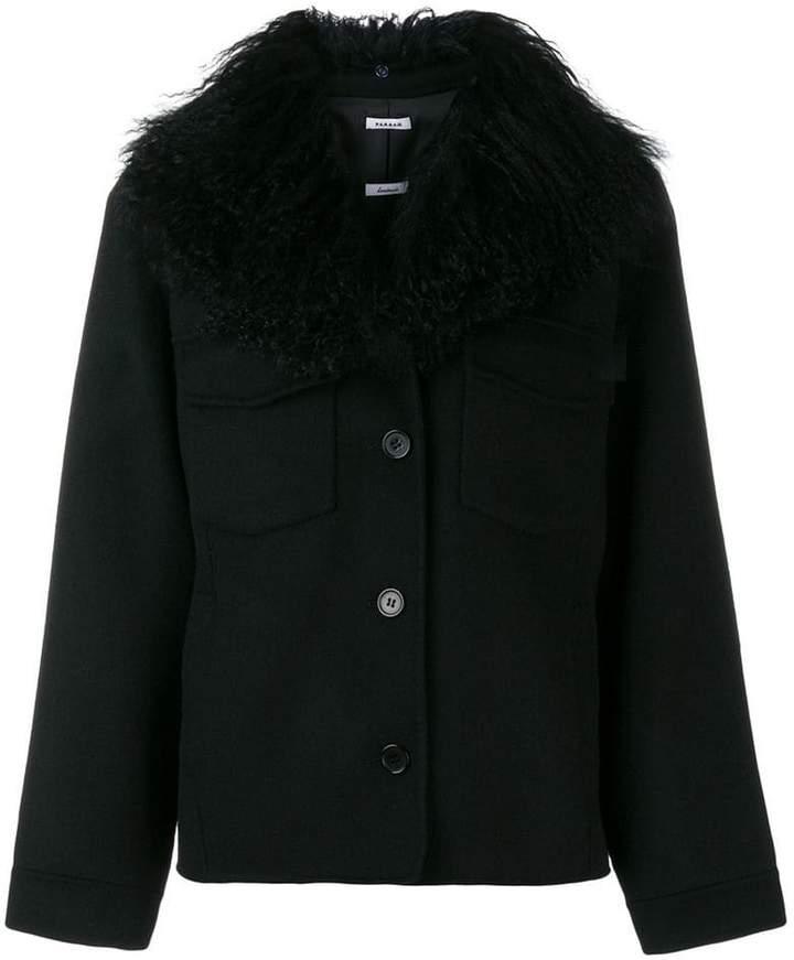 P.A.R.O.S.H. goat fur trim coat