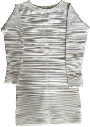 Maje Ecru Wool Dresses