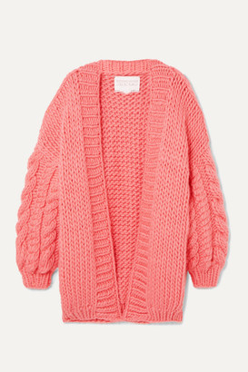 I Love Mr Mittens Cable-knit Wool Cardigan - Pink