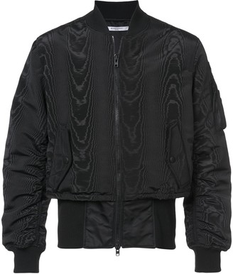Givenchy Moire And Trompe-L'oeil Effect Bomber Jacket