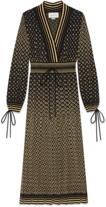 Gucci Wool and GG jacquard dress