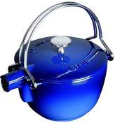 Staub Cast Iron Round Tea Kettle - Dark Blue - 1 QT