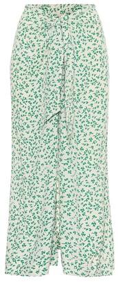 Ganni Floral crApe maxi skirt