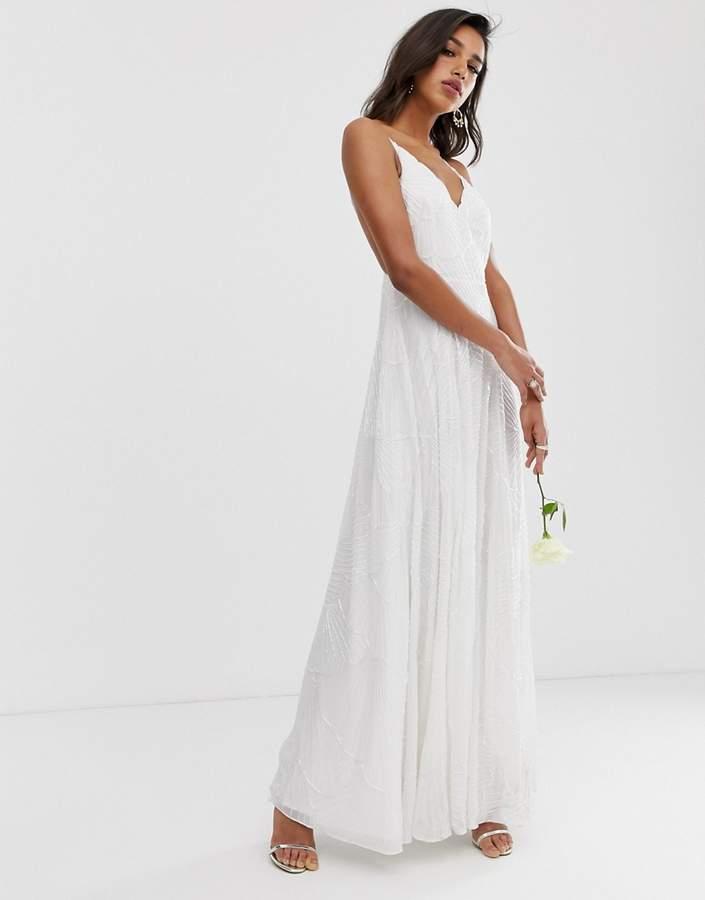 Asos Edition EDITION embellished cami wedding dress
