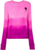 The Elder Statesman Palm tree intarsia cashmere sweater