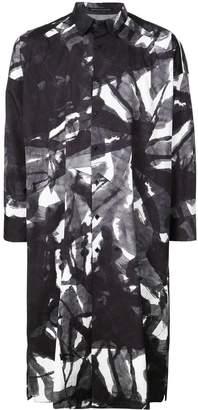 Yohji Yamamoto oversized print shirt