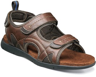 Nunn Bush Rio Grande River Men's Three-Strap Open Toe Sandals