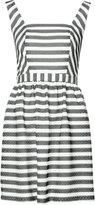 Trina Turk mesh stripe sundress - women - Polyester/Spandex/Elastane - 4