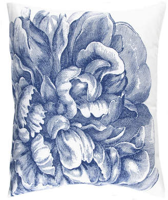 Caskata Cotton Canvas Decorative Square Pillow, With Feather and Down Insert Bedding