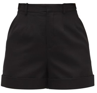 Saint Laurent High-rise Wool Tailored Shorts - Black
