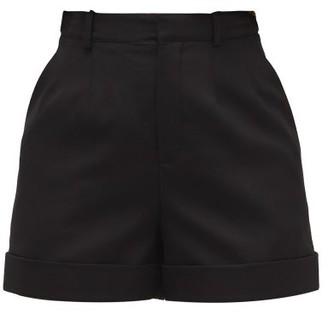 Saint Laurent High-rise Wool Tailored Shorts - Womens - Black