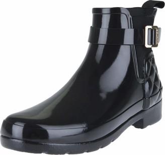 Hunter Women's Refined Gloss Quilt Chelsea Rain Boot