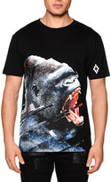 Marcelo Burlon County of Milan Angry Gorilla Short-Sleeve Graphic Tee, Black Multi