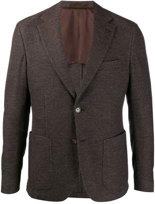 Eleventy fitted single-breasted blazer