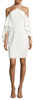 Alexia Admor Crepe Flutter Sleeve Sheath Dress
